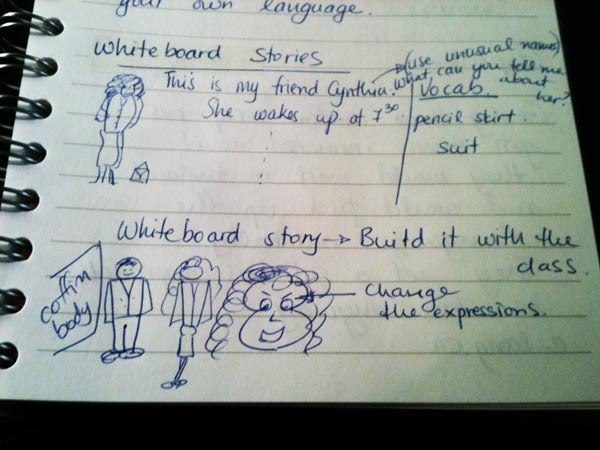 My notes during one of our workshops