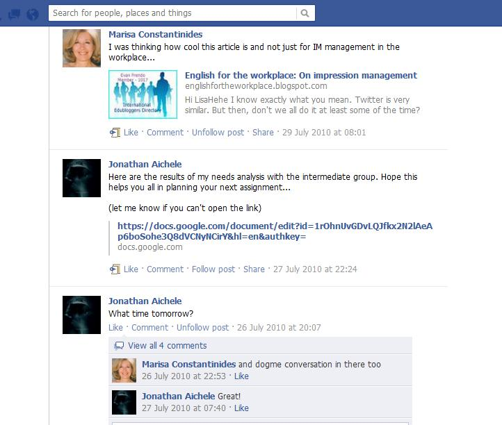 Facebook as a Learning Management System  (3/3)