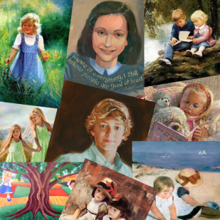 children collage