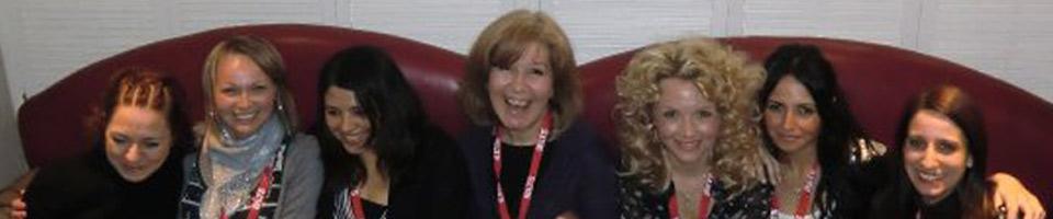 Esra Girgin Akiskali, Amanda Wilson, Shelly Terrell, myself, Petra Pointner, Ozge Karaoglu & Vicky Saumel - photo from IATEFL Harrogate 2010