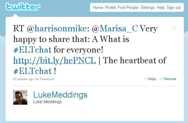 Luke Meddings thinks it IS the heartbeat of ELT! I love that!
