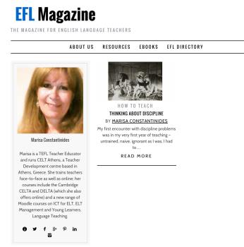 Marisa Constantinides Author at EFL Magazine